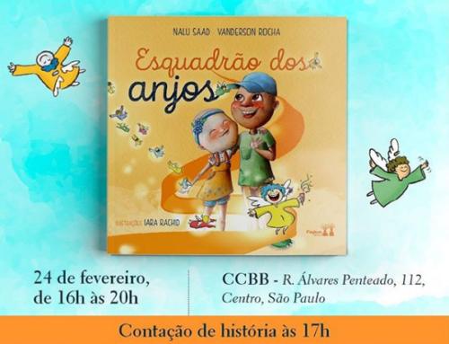 Nalu e Dr. Vandersson convidam: Lançamento do livro Esquadrão dos Anjos – 24/02