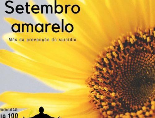 Setembro Amarelo: Depressão NÃO é Brincadeira